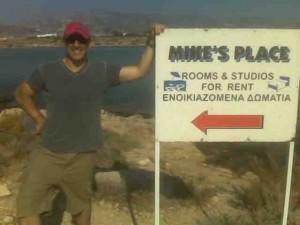 Mike in his element in Antiparos, Greek islands